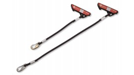 Redcord Elastické lano černé, 30 cm - pár