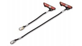 Redcord Elastické lano černé, 60 cm - pár